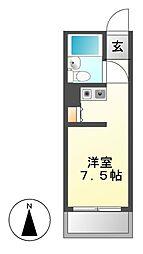 ラフィネ新栄[5階]の間取り