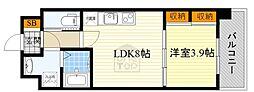 北大阪急行電鉄 千里中央駅 バス15分 北消防署前下車 徒歩6分の賃貸マンション 4階1LDKの間取り
