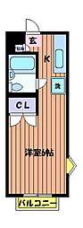 コーポラスタカヤ[1階]の間取り