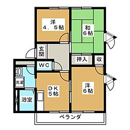 セントラルヴィレッジII A棟[2階]の間取り