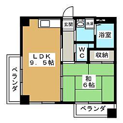 オアシス21[2階]の間取り