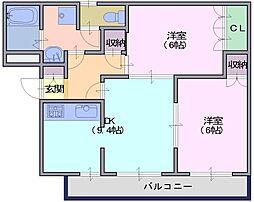 ベルパーク.N[2階]の間取り