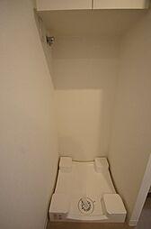 アジールコート池上の「防水パン付の室内洗濯機置場」