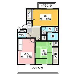 クレインハイム[3階]の間取り