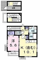 M・フローラ[3階]の間取り