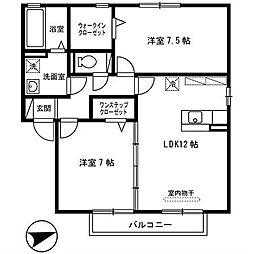 ラパン久宝寺[2階]の間取り