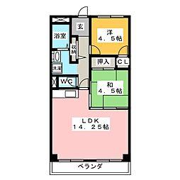 ドミールアローウィステリア[6階]の間取り