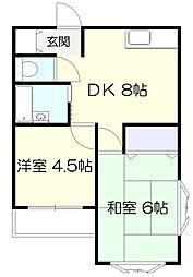 ロワール栗木台[3階]の間取り