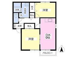 セジュール桜[102号室]の間取り