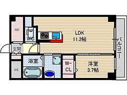 アクトタレイア茨木駅前[2階]の間取り