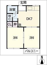グリーンコーポ西阿倉川[1階]の間取り