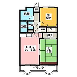 リバーサイド富士 II[1階]の間取り