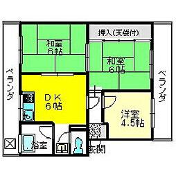末広マンション[3階]の間取り