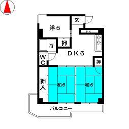メゾン小六[2階]の間取り