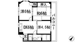 兵庫県川西市新田2丁目の賃貸マンションの間取り