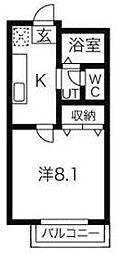東京都町田市広袴2丁目の賃貸アパートの間取り