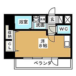 ミーム東新町[4階]の間取り