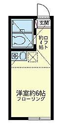ユナイト 阪東橋ラ・カリビアーノ[1階]の間取り