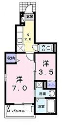 ルミエール2[104号室号室]の間取り
