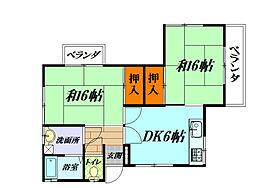 桜井荘[201号室]の間取り