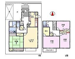 [一戸建] 兵庫県姫路市飾磨区矢倉町1丁目 の賃貸【/】の間取り