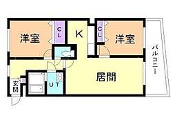 北海道札幌市豊平区平岸二条5丁目の賃貸マンションの間取り