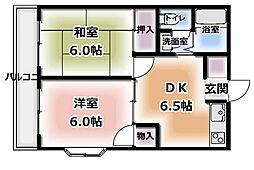 アパートメントナガハマパートII[1階]の間取り