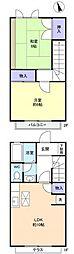 [テラスハウス] 千葉県八千代市下市場1丁目 の賃貸【/】の間取り