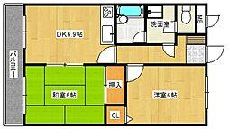 ライオンズマンションサンフラワー[7階]の間取り