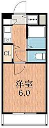 プレサンス阿倍野阪南町[5階]の間取り