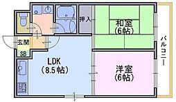 スペリオン寺戸[4階]の間取り