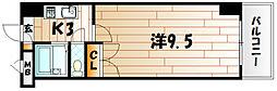 アリビオ南小倉[6階]の間取り