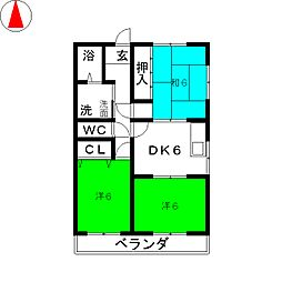 サンハウスM・I[2階]の間取り