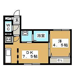 Orquidea東本願寺(オルキデア ヒガシホンガンジ)[1階]の間取り
