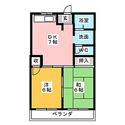 アネックス浅井[2階]の間取り