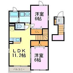 レインボーヒルズIII[2階]の間取り