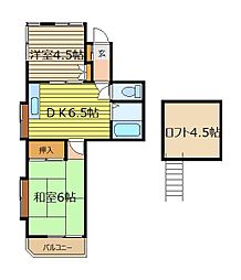 埼玉県朝霞市泉水2丁目の賃貸アパートの間取り