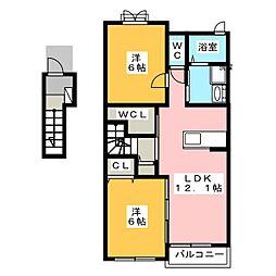 トーラスI[2階]の間取り