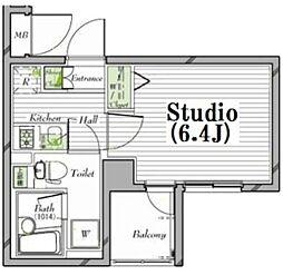 ガーラ・ステーション菊川[7階号室]の間取り