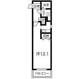 北海道札幌市中央区南六条西24丁目の賃貸マンションの間取り
