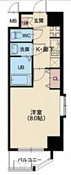 Osaka Metro中央線 九条駅 徒歩8分の賃貸マンション 10階1Kの間取り
