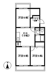 センチュリーハイツ町田13号棟[3階]の間取り
