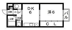 アンソレイユ[203号室号室]の間取り