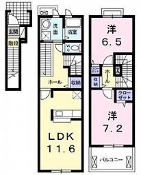 メゾンサンリット[2階]の間取り
