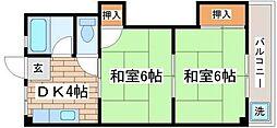 兵庫県神戸市須磨区妙法寺桜ノ界地の賃貸マンションの間取り