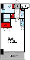 JR鹿児島本線 香椎駅 徒歩3分の賃貸マンション 5階ワンルームの間取り