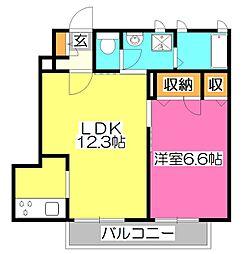 東京都西東京市向台町4丁目の賃貸アパートの間取り