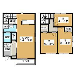 京洛舎 岩倉[2階]の間取り