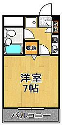 ライオンズマンション大正[6階]の間取り