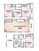 4LDK 建物価格:1、100万円 建物面積:125.14m2